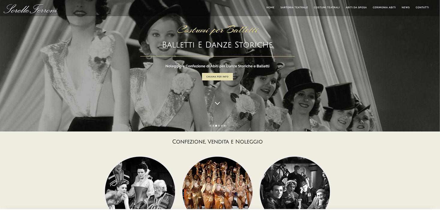 noleggio sito web balletti